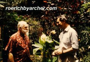 India, octubre de 1983, durante las entrevistas con Kenneth Archer. (Foto: Devika Rani Roerich)