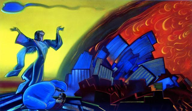 No veas la ciudad ardiendo. 1968. Svetoslav Roerich