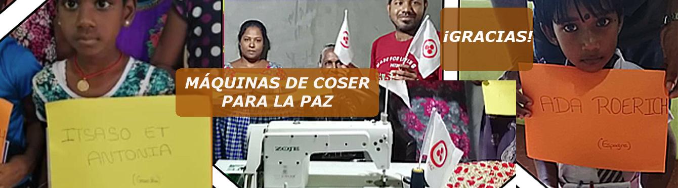 Máquinas de coser para la Paz